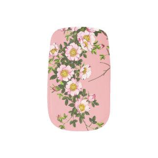Vintage japanische Kirschblüten, -ROSA und -gold Minx Nagelkunst