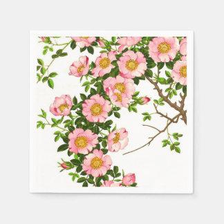 Vintage japanische Kirschblüten, -ROSA und -gold Serviette