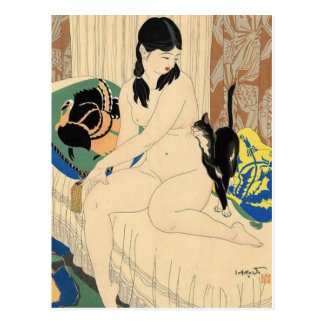 Vintage japanische Kunst-Postkarte Postkarte