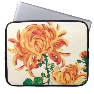 Vintage japanische Malerei der Chrysanthemen Computer Sleeve Schutzhüllen