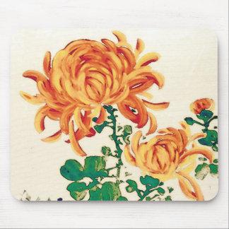 Vintage japanische Malerei der Chrysanthemen Mauspad