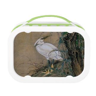 Vintage japanische Malerei eines weißen Vogels