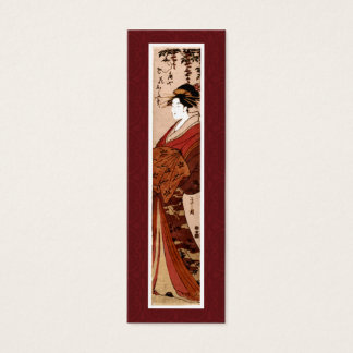 Vintage japanische Malerei-Geschäfts-Karte Mini-Visitenkarten
