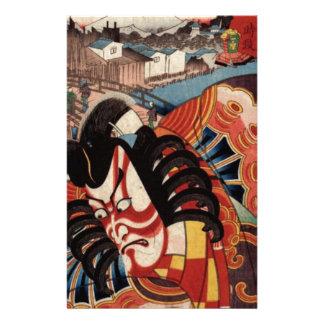 Vintage japanische Malerei - Kabuki Schauspieler Briefpapier