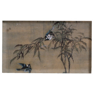 Vintage japanische Malerei von zwei Vögeln auf