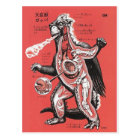 Vintage japanische Monster-Postkarte im Schnitt Postkarte