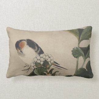 Vintage japanische Vogel-Malerei Zierkissen
