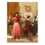 Vintage Jugend, die musikalische Duo-Postkarte spi