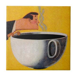 Vintage Kaffee-Anzeige Fliese
