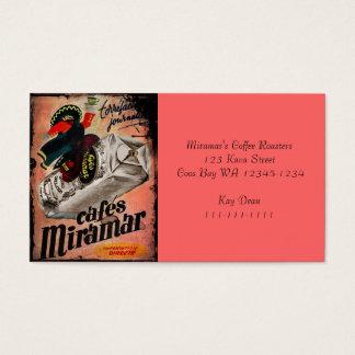 Vintage Kaffee-Anzeige für Miramar Visitenkarten