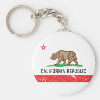 Vintage Kalifornien-Flagge Schlüsselanhänger