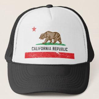 Vintage Kalifornien-Flagge Truckerkappe