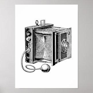 Vintage Kamera - antike Kamera-Fotografie Poster