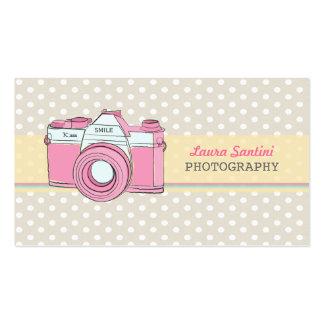 Vintage Kamera-Fotograf-Geschäfts-Karten