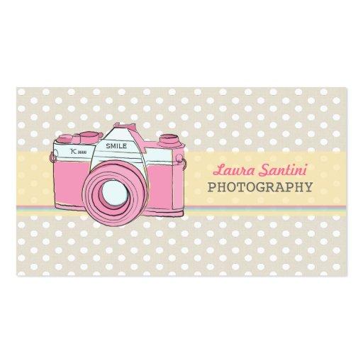 Vintage Kamera-Fotograf-Geschäfts-Karten Visitenkarte