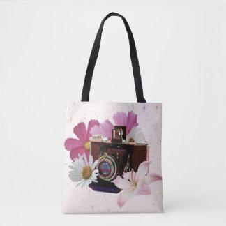 Vintage Kamera mit Blumen Tasche