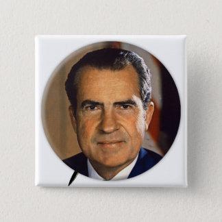 Vintage Kampagnen-Kunst Präsidenten-Richard Nixon Quadratischer Button 5,1 Cm