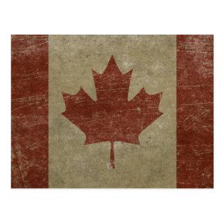 Vintage Kanada-Flagge Postkarte