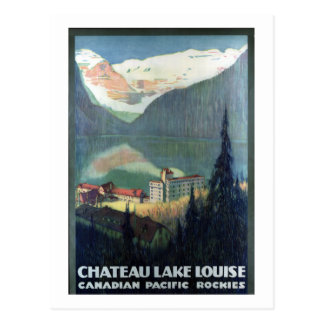 Vintage kanadische pazifische Rockies Lake Louise Postkarte