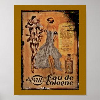 Vintage Karnevals-Franzosen Köln Poster