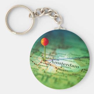 Vintage Karte AMSTERDAMS Schlüsselanhänger