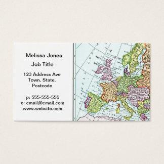 Vintage Karte bunter Pastelle Europas