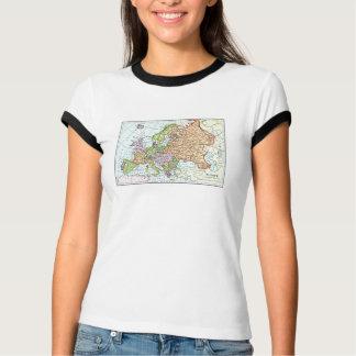 Vintage Karte bunter Pastelle Europas T-Shirt