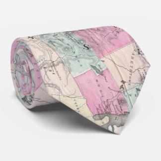Vintage Karte der Adirondack Berge (1867) Krawatte