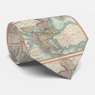Vintage Karte der Balkan und der Türkei (1801) Individuelle Krawatte