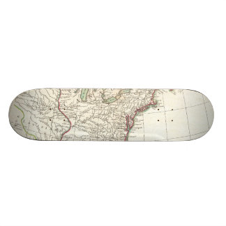 Vintage Karte der dreizehn Kolonien (1776) Skateboard Brett
