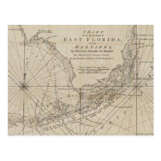 Vintage Karte der Florida-Schlüssel (1771)