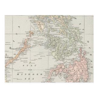 Vintage Karte der philippinischen Inseln (1901)