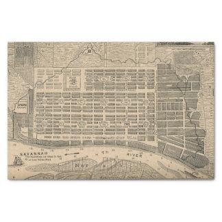 Vintage Karte der Savanne Georgia (1818) Seidenpapier