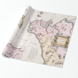 Vintage Karte der Straße von Gibraltar (1780) Geschenkpapier