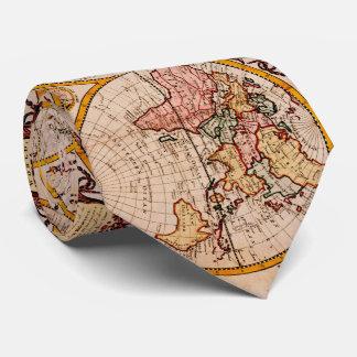 Vintage Karte der Welt (1782) - Stylized Bedruckte Krawatten