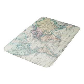 Vintage Karte der Welt (1801) Badematten