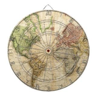 Vintage Karte der Welt (1831) Dartscheibe