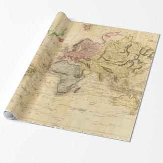 Vintage Karte der Welt (1831) Einpackpapier