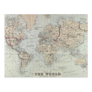 Vintage Karte der Welt (1875)