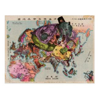 Vintage Karte der Welt gegen 1900