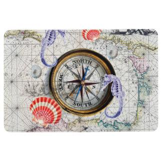 Vintage Karte des Kompassses Bodenmatte