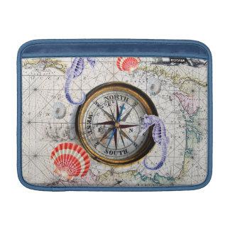 Vintage Karte des Kompassses Sleeve Fürs MacBook Air