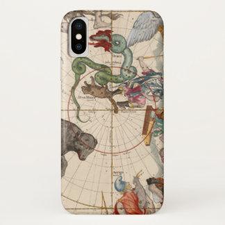 Vintage Karte des Nordpols iPhone X Hülle