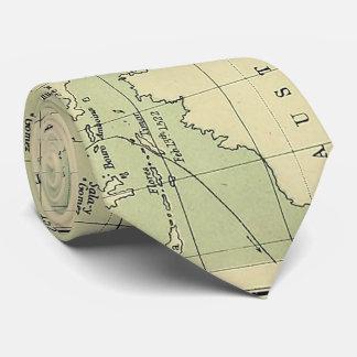 Vintage Karte des pazifischen Ozeans (1874) Krawatten