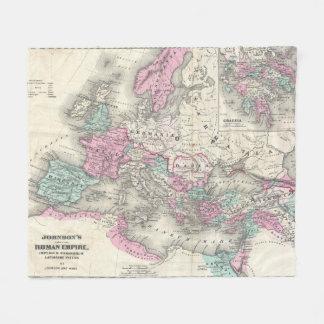 Vintage Karte des römischen Reiches (1862) Fleecedecke
