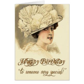 Vintage Karte Edwardian Damen-Geburtstag