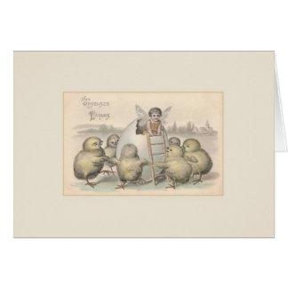 Vintage Karte Franzose-Ostern Joyeuses Pâques