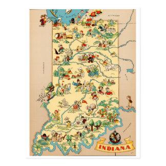 Vintage Karte Indianas