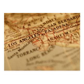 Vintage Karte LOS ANGELES