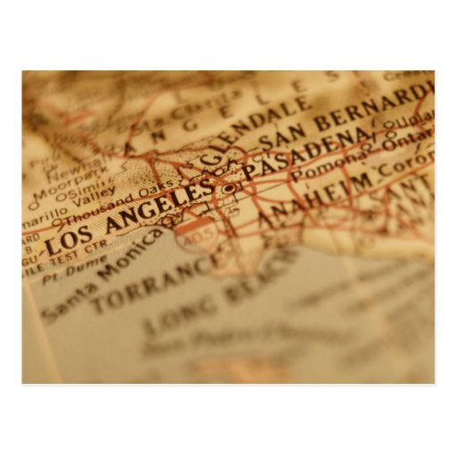 Vintage Karte LOS ANGELES Postkarten